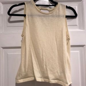 NATION yellow work out top
